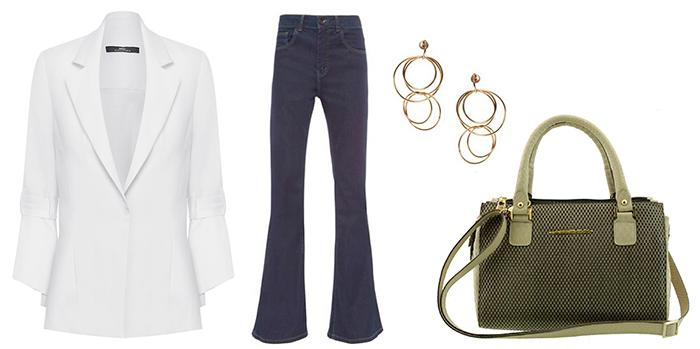 Look sofisticado para o dia a dia com bolsa estruturada