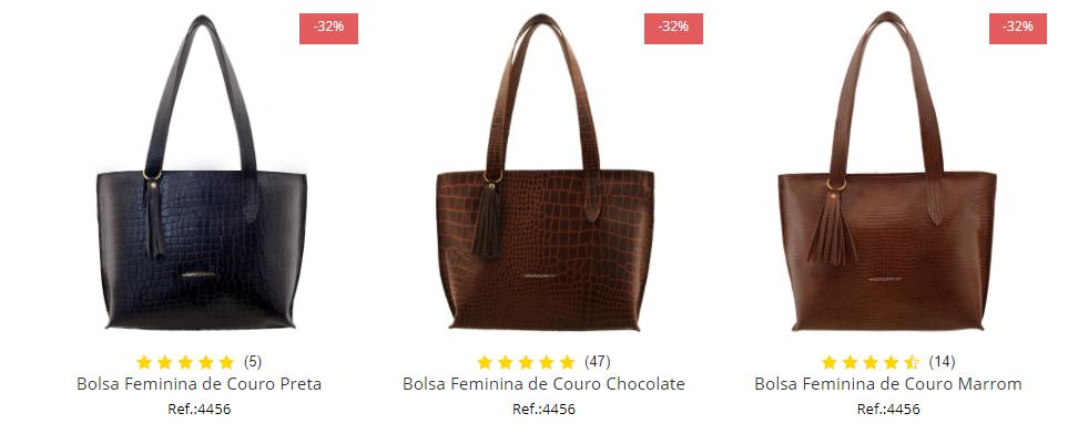 bolsa feminina em couro Arzon