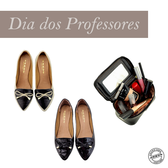 presentes para o dia dos professores sapatilha em couro Arzon