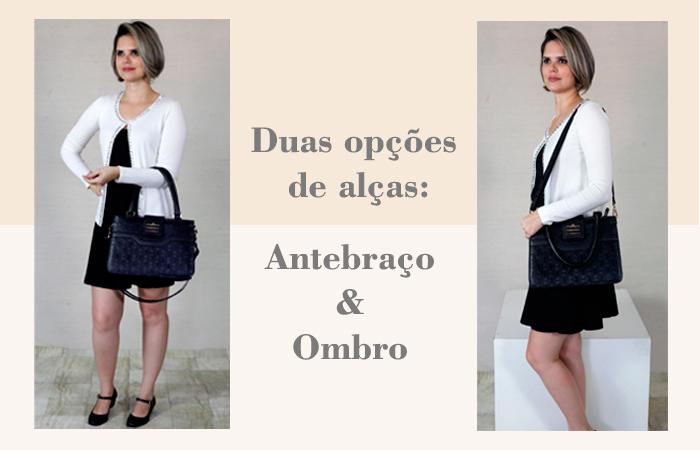 bolsas femininas em couro preto ARZON