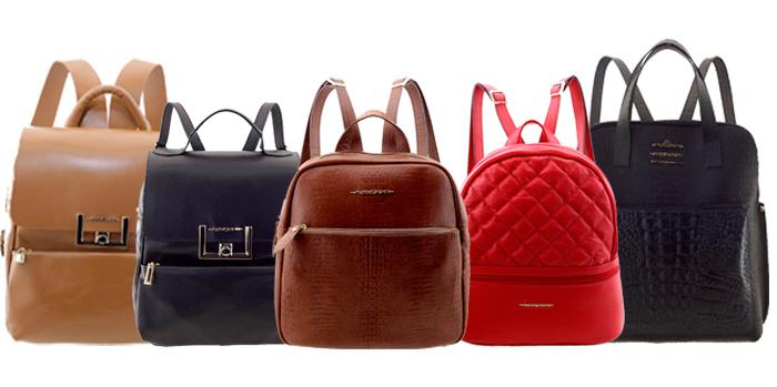 mochilas femininas em couro Arzon
