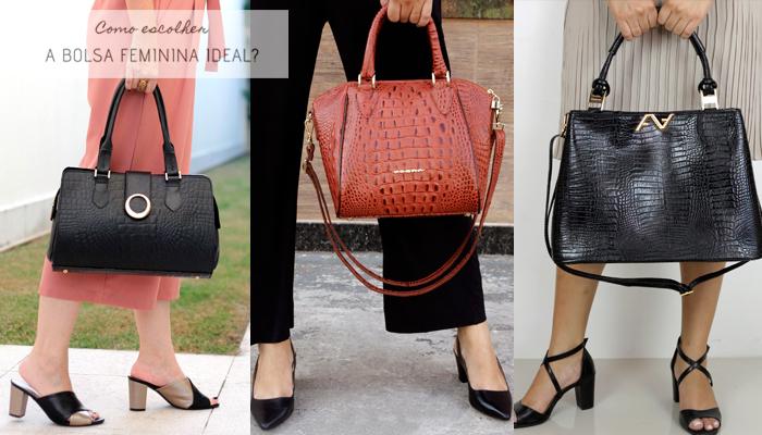 Como escolher a bolsa feminina ideal - Veja algumas opções de Bolsas com alça de mão.