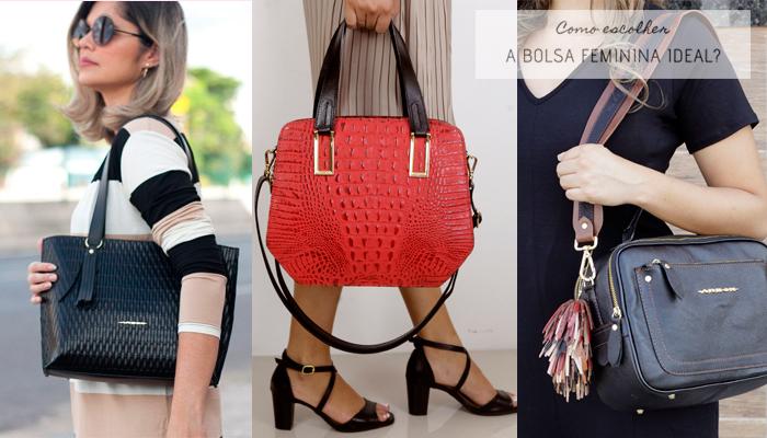 Como escolher a bolsa feminina ideal - Conheça Bolsas Femininas de Couro com Qualidade.
