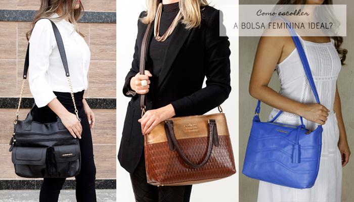 Como escolher a bolsa feminina ideal - Veja algumas opções de Bolsas Transversais e /ou Tiracolo.