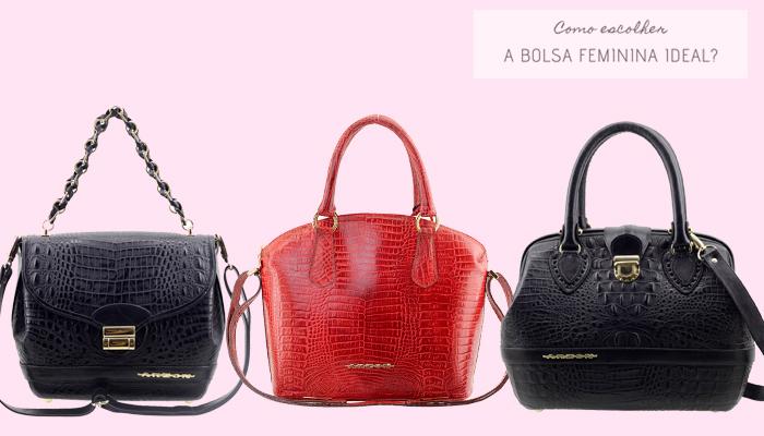 Como escolher a bolsa feminina ideal - Veja algumas opções de Bolsas Estruturadas.