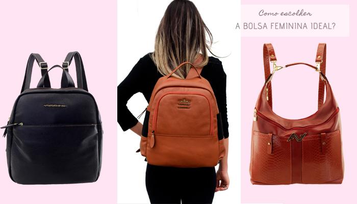 Como escolher a bolsa feminina ideal - Veja algumas opções de Mochilas Femininas de Couro.