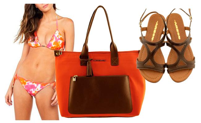 Combine looks de praia com maxibags e rasteiras
