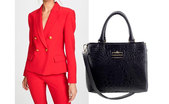 Bolsa média de couro preta é uma das bolsas que combinam com tudo!