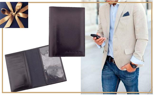 Presente nobre e requintado para seu amado ou amigo oculto: Porta passaporte de Couro.