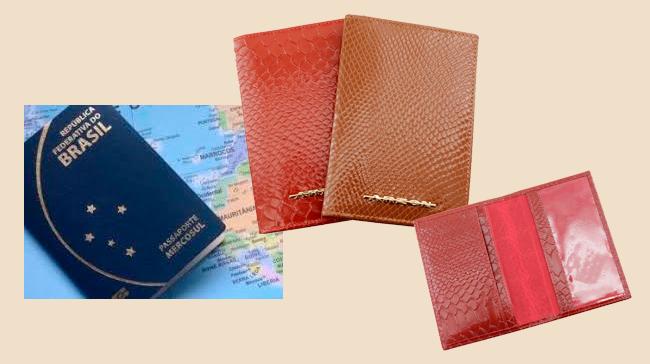 Use o porta passaporte para transportar e conservar seu documento de viagem
