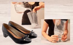 Laceando calçado de couro com gelo