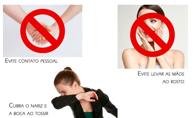 Recomendações para evitar a contaminação-PELO COVID19