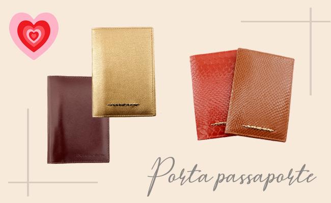 Presentes para o Dia dos Namorados - Porta Passaporte de Couro  ARZON
