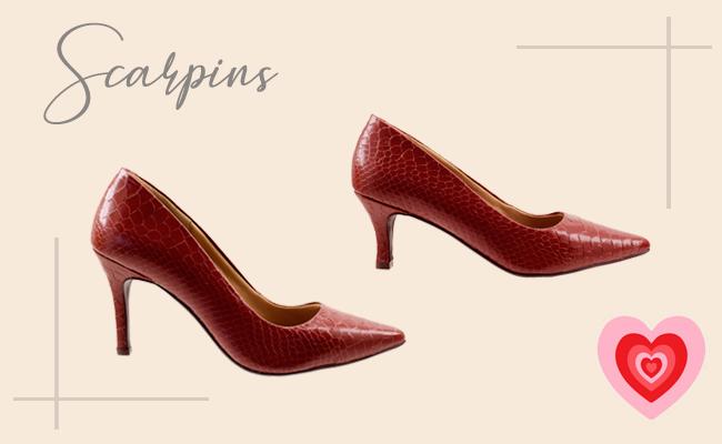 Presentes para o Dia dos Namorados - Scarpin vermelho de couro para elas