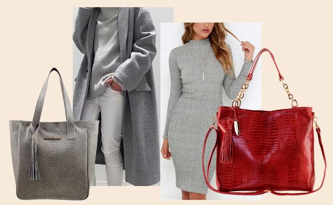As cores do inverno 2020 - Bolsas sacolas de couro legítimo