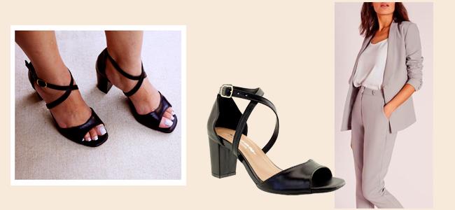 Sapatos para meia estação - sandália de bico quadrado arzon