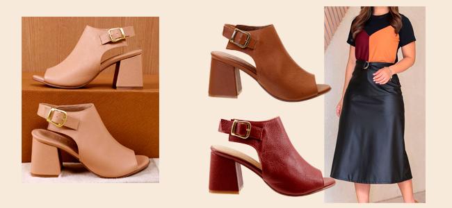 Sapato para meia estação sandal boot de couro arzon