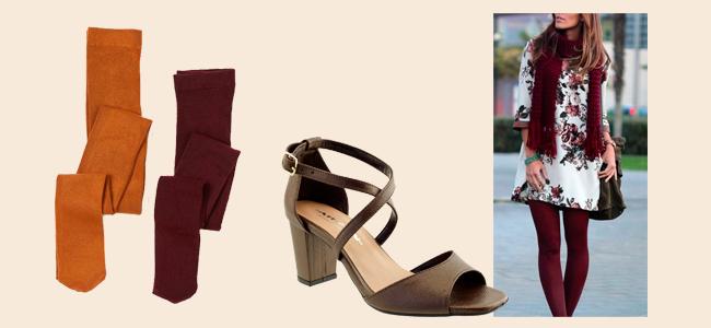 Sandália com meia calça colorida no Inverno!