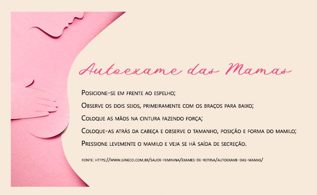 Dicas ARZON sobre Outubro Rosa - Faça o exame das mamas
