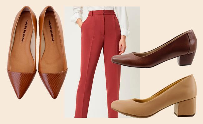 sapatos femininos para entrevista de emprego